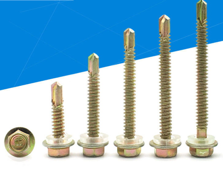 Brass Wrench Or Socket Hexagon Drive Self Sealing Roofing Screws That Go Through Metal