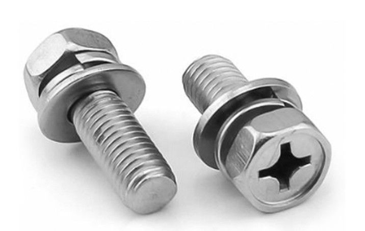 High Tensile Automotive 25mm Stainless Steel Sems Screws , Hex Head Sems Countersunk