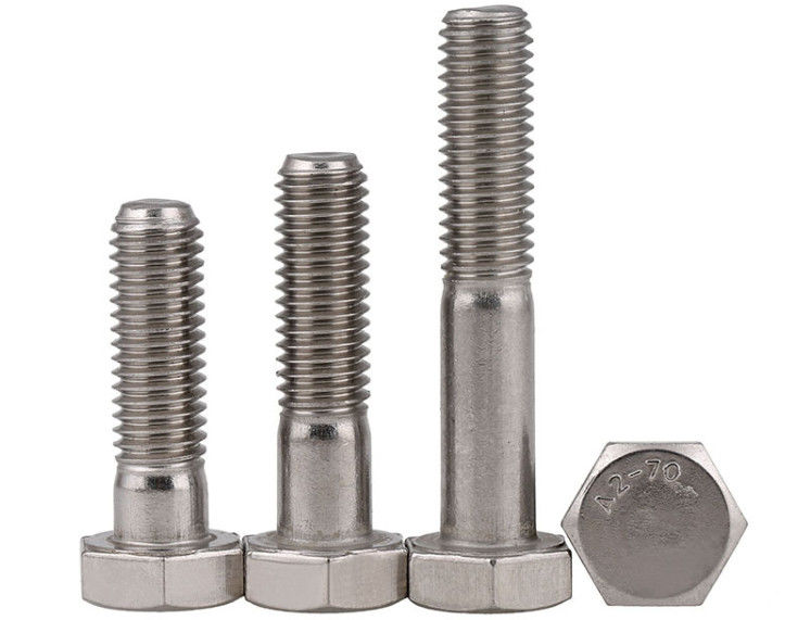 Half Thread SS304 SS316 Stainless Steel Hex Head Screws  High Holding Power DIN931