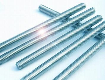 3/8 Inch - 24 Inch High Strength Threaded Rod , Half Thread Stainless Steel Threaded Bar