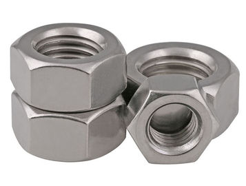 Stainless Steel 304 / 316 Hexagon Head Nut Plain Finish Grade 10 Metric DIN 934 JIS