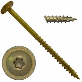 Torx / Star Drive Steel Wood Screws , Stainless Steel Truss Head Wood Screw With Washer Head