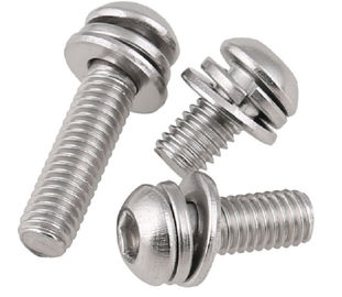 Stainless Steel Button Head Hex Socket Head Cap Screw Sems By Lock Washer Assembly