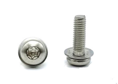 SUS304 SUS316 Socket Cap Sems Screw External / Internal Tooth Lockwashers And Flat Washer