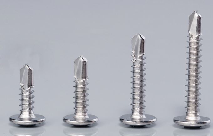 8 X 1 Truss Wafer Head Self Tapping Screws With