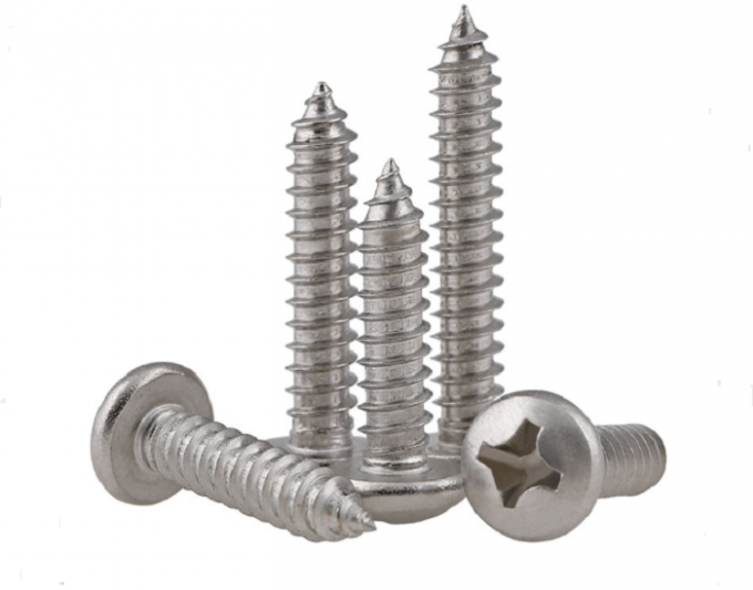 DIN7981 Pan Head Self Tapping Screws , Cross Recessed Stainless Steel Sheet Metal Screw