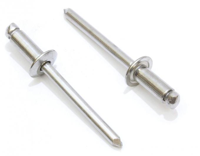 50 Pack 4mm x 10mm A2 Stainless Steel Dome Head Open Blind Pop Rivets