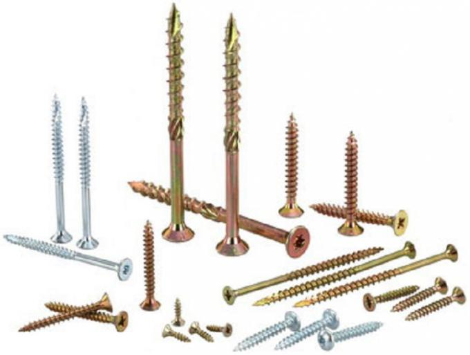 Hardened Steel Gypsum Board Double Bugle Head Deck Screws For Treated Pine Sharp Point